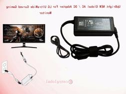 """19V AC Adapter For LG 34UC79G-B 34"""" UltraWide Curved Gaming"""
