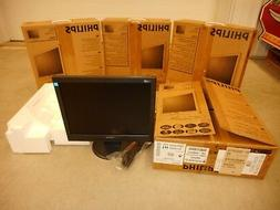 """4 Philips Computer Monitor Lcd 15"""" Laptop Desktop Office Ext"""