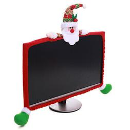 Computer Christmas Monitor Cover Decorations Screen Accessor