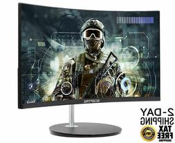 """Curved Gaming Monitor PC Computer LED  24"""" Screen Desktop HD"""