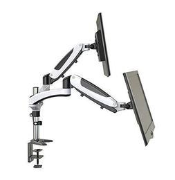 HUANUO  Dual Monitor Mount, Full Motion Monitor Arm Stand, H
