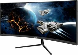 "VIOTEK GNV29CB Ultrawide Curved 29"" Gaming Monitor 120Hz 21:"