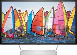 """HP - Pavilion 32"""" LED QHD Monitor - Black with Silver stand"""