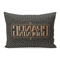 Emvency Throw Pillow Covers Coming Soon Grand Opening Letter
