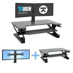 Ergotron WorkFit Bundle WorkFit-TL with Dual Monitor Mount S